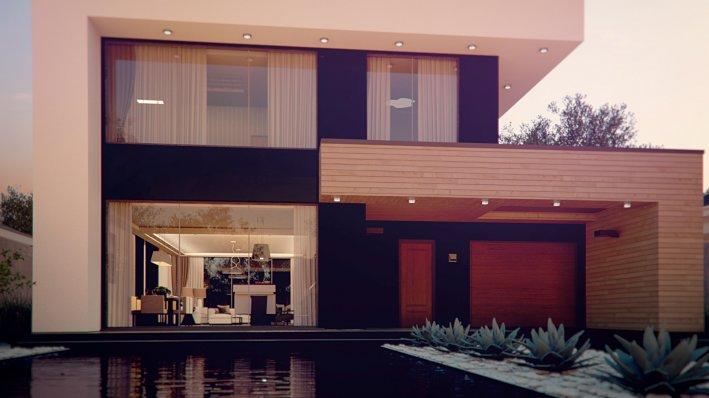 большие окна в современном доме