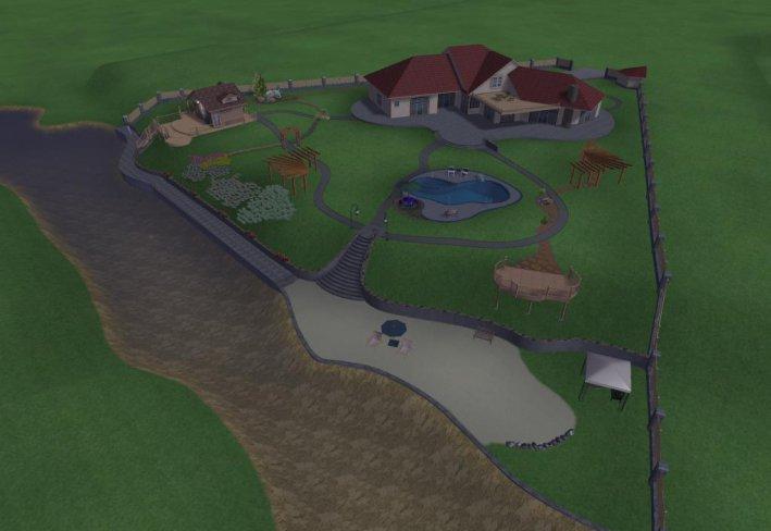 вариант дизайна с бассейном